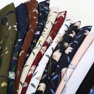 Image 1 - women printed floral scarf bubble chiffon scarves shawls hijab muslim fashion long wrap headband 28 color scarf 180*73cm