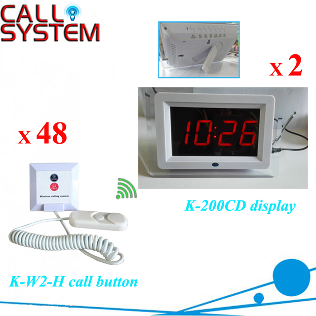 Electronic patient call button system 2 display monitor 48 bell buzzer for nursing house