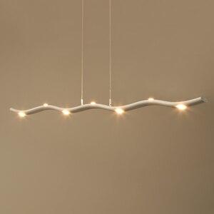 Image 3 - Plafonnier suspendu nordique moderne pendentif Led, design minimaliste, luminaire dintérieur, idéal pour une salle à manger