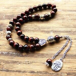 Image 4 - 8 mét brown tiger eye Đá bead Round Shape 33 Hạt Cầu Nguyện Hồi Giáo Hồi Giáo Tasbih Allah Mohammed Mân Côi Cho Nam Giới & phụ nữ