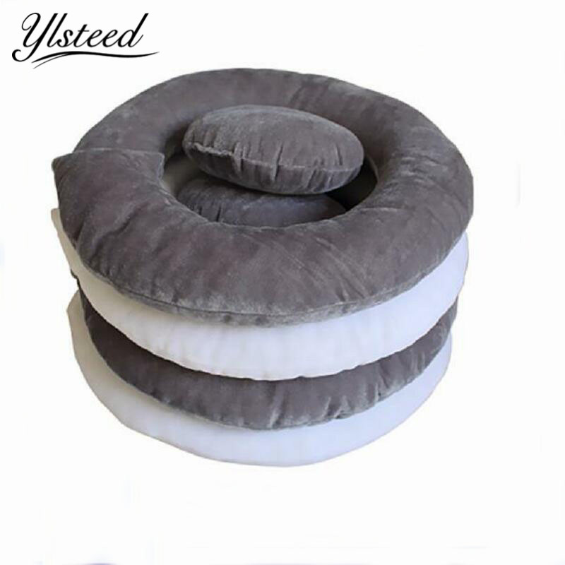 2 Pieces Newborn Ring Pillow Basket Filler Stuffer Baby Photo Shooting Cushion Infant Positioner Donut Posing Photography Props недорого