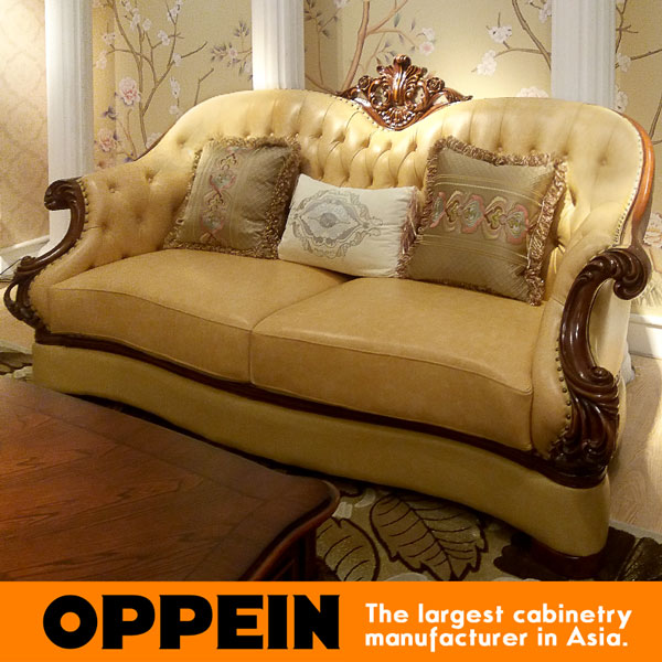 Light Brown Leather Covered Comfortable Living Room Furniture Sets  OS 0314061 Part 86