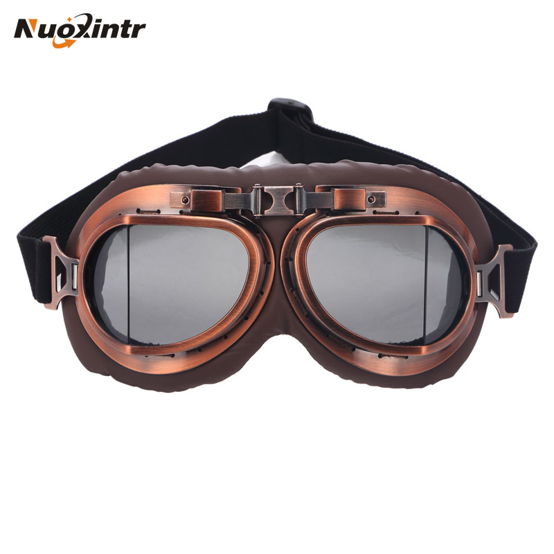 Nuoxintr Outdoor Sport Motorcycle Goggles Vintage Motocross Glasses Dirt Bike For Harley Moto Protection Eyewear UV Protection