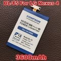 3600mAh BL-T5 mobile phone Replacement For LG Nexus 4 Battery Google4 E975 E973 E970 E960 F180 For LG BL-T5 Google Nexus 4