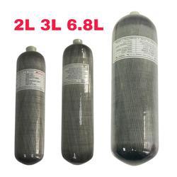 Acecare Scuba Pcp 2L/3L/6.8L CE 4500spi Pcp/tanque de Paintball de aire Mini cilindro de fibra de carbono de buceo pcp Rifle de aire de la Fuerza Aérea de Condor
