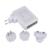 Atacado 6 Portas USB de Viagem Carregador de Parede AC Adaptador De Energia De Vários Pacote de AU/UK/EUA/UE Plugs USB Carregador Universal para o Telefone Inteligente