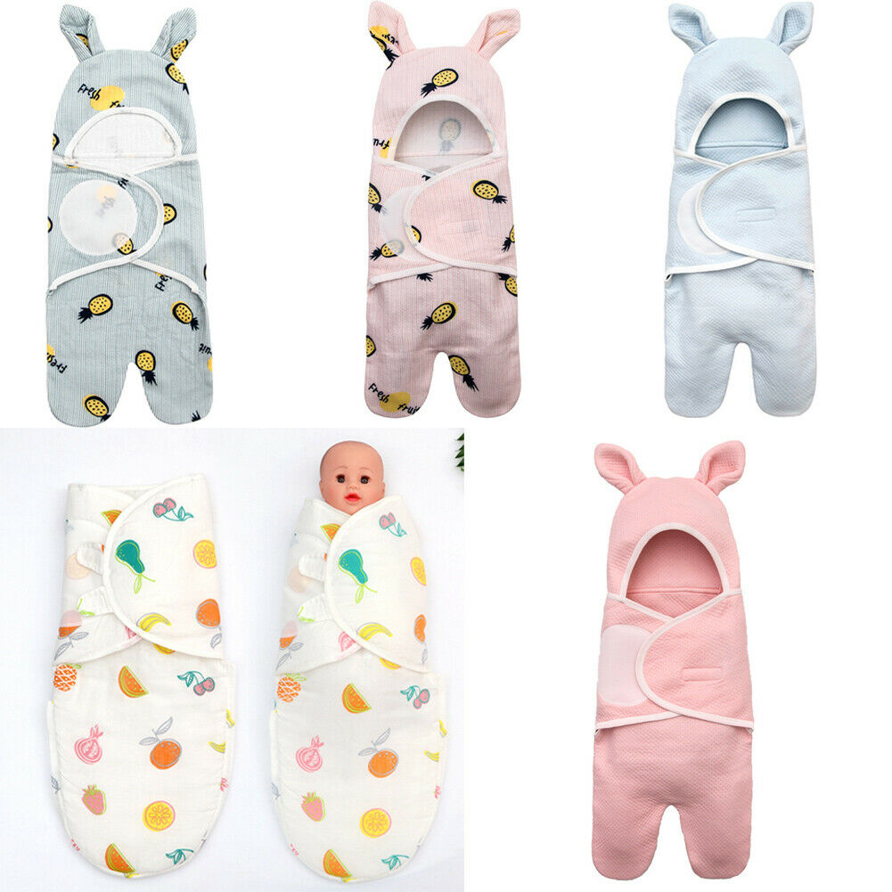 2019 Infant Newborn Baby Swaddle Blanket Sleeping Bags Cute Printed Toddler Kids Soft Cotton Sleeping Swaddle Muslin Wrap