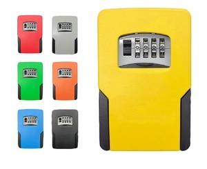 Image 2 - Big size Wall Mounted Key Storage Organizer Boxes with 4 Digit Combination Lock Spare Keys Organizer Boxes Metal Secret Safe Box