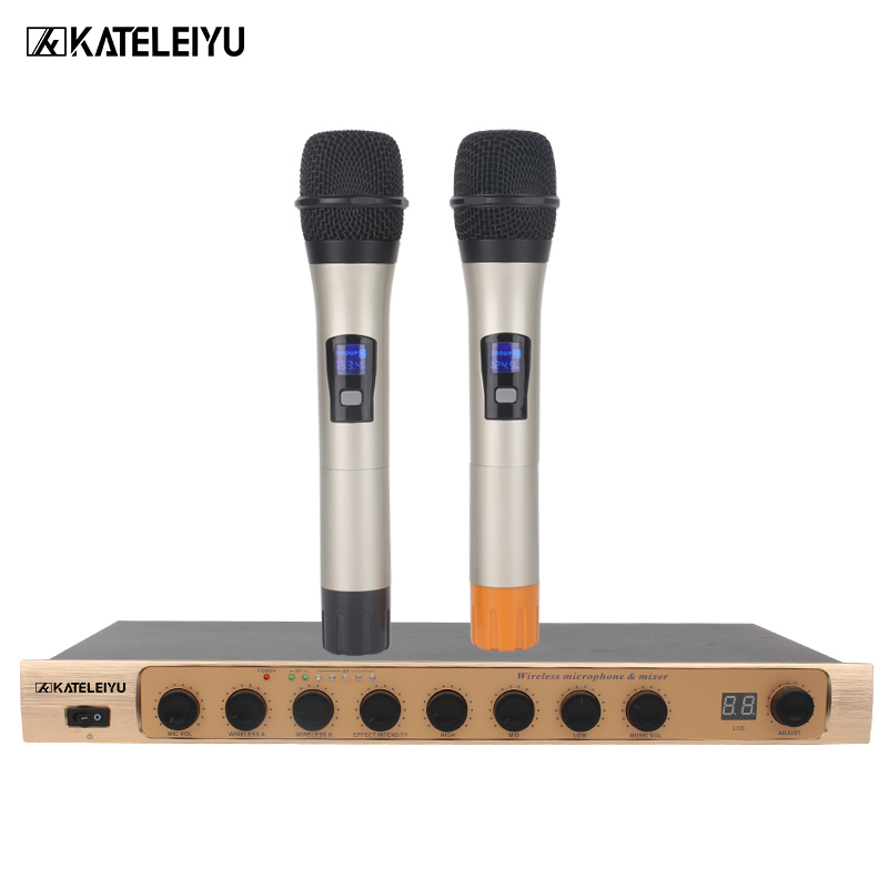 Amplifier Microphone all in one machine 900 2 channel wireless Bluetooth Built in FM radio USB SD card MP3 playback High bass a microphone microphone bluetooth microphone wireless wireless microphone - title=