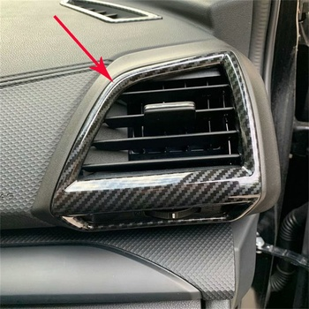 Auto Styling Voor Airconditioning Outlet Vent Frame Cover Trim ABS Fit Voor Subaru Forester 2019 2020 Auto Accessoires 2 stuks
