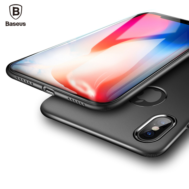 premium selection 73bba 8c51a US $4.49 10% OFF|Baseus Ultra Thin TPU Silicone Case For iPhone X 10 Luxury  Soft Silicone Slim Back Cover Case For iPhoneX Cover Anti Knock Coque-in ...