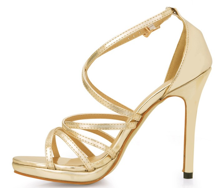 hot 2018 new style sexy cross-strap buckle woman gladiator gold high heels sandals platform female summer stiletto pumps shoes 2017 summer gold gladiator sandals platform wedges creepers casual buckle shoes woman sexy fashion high heels