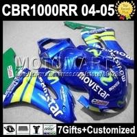 7gifts CowlFor HONDA 04 05 CBR1000RR 04 05 CBR1000 Movistar Blue RR K7948 Injection CBR 1000