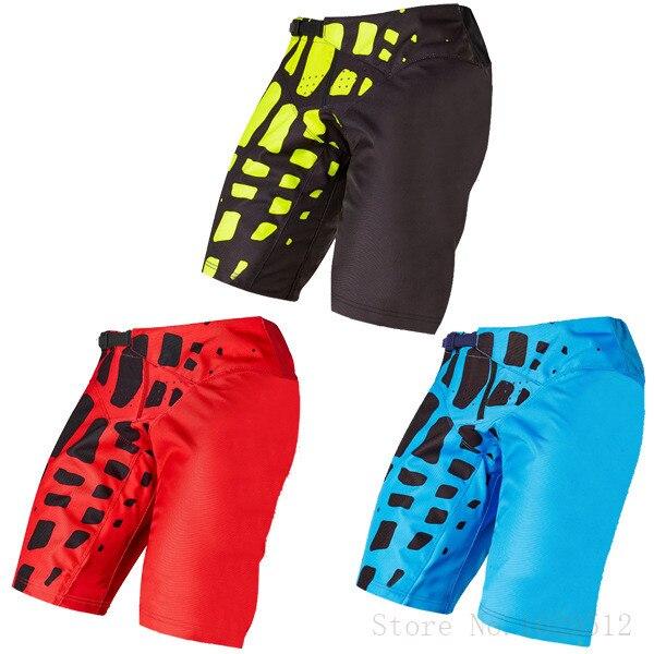 DH Downhill Mountain Dirt Bike Pants MX MTB BMX Motocross Riding Shorts 360 Racing Quick Dry Shorts With Hip Pad