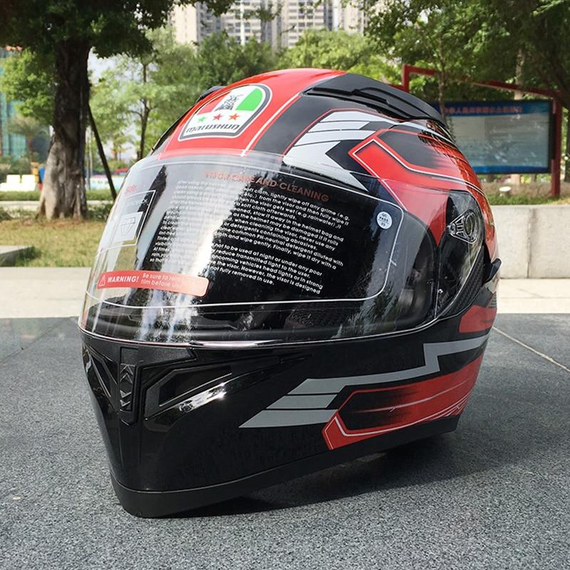 Best Sale Double Lens Racing Motocross Flip Up Motorcycle Helmet With Inner Sun Visor Dual Visor Helmet In Winter Season