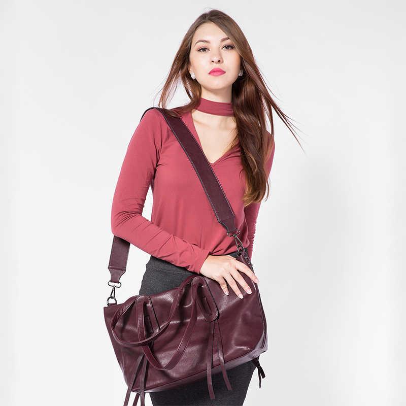 Lovevook Merek Fashion Wanita Tas Tangan Kapasitas Besar Tote Kasual Tas Bahu Lebar Tali Selempang Tas Wanita Mewah Besar Tas Tangan