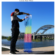 Lawaia American Hand Cast Net New Color Fishing-nets Aluminum Ring USA Nets Throw Frisbee Fishing Network