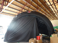 Good quality oxford black inflatable tent with blower