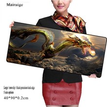 Mairuige Fire  Dragon  MousePad Locked Edge Pad To Mouse Notbook Computer Gaming Padmouse Gamer for Women Men Christmas Gifts