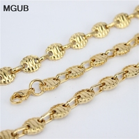 MGUB Gold farbe 316L edelstahl halskette männer lange punk aussage halskette vintage männer schmuck HY135