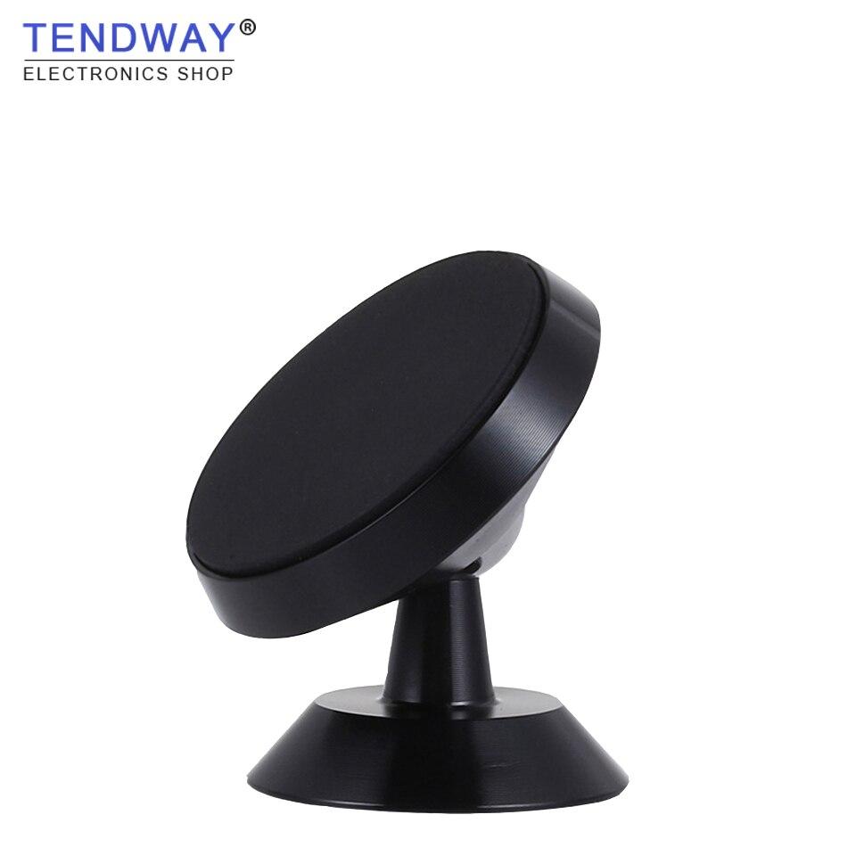 Tendway Magnetic Car Phone Holder Aluminium Alloy 360 Rotation Desktop Bracket Dashboard GPS Mount Mobile Stand Cellphone Holder