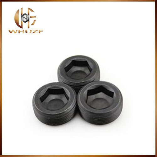 G1/8/16/4 1/8 Inch 12.9 Grade Carbon Steel BSP Pipe Oil Line Plug Throat Tap Stop Hex Hexagon Socket Set Screw 3 8 bsp female thread brass pipe countersunk plug hex head socket pipe fittings end cap