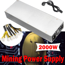 92.5% Efficiency 2000W Mining Power Supply For Eth Rig Ethereum Bitcoin Miner Mining Machine S7 S9 200-240V 90