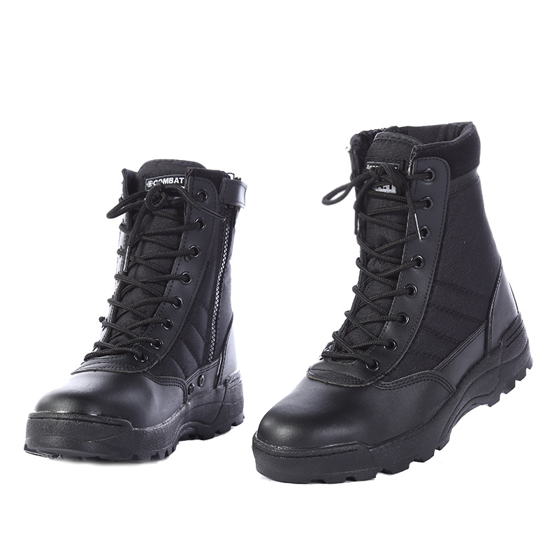 2018 New Us Military Leather Boots for Men Combat <font><b>Bot</b></font> Infantry Tactical Boots <font><b>Askeri</b></font> <font><b>Bot</b></font> Army <font><b>Bots</b></font> Army Shoes <font><b>Erkek</b></font> Ayakkabi image