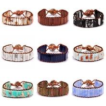 купить Belleper Love Bracelet Jewelry Handmade Wrap Bracelet Natural Stone Bracelet Braided rope Woven Bracelet Women Boho Jewelry Gift онлайн