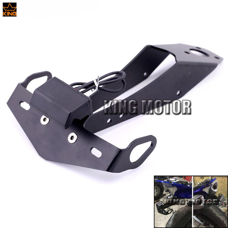 For YAMAHA YZF-R1 YZFR1 R1 2009-2014 Motorcycle Tail Tidy Fender Eliminator Registration License Plate Holder Bracket LED Light aftermarket free shipping motorcycle parts eliminator tidy tail fit for 2006 2012 yzf r6 yzf r6 yzfr6