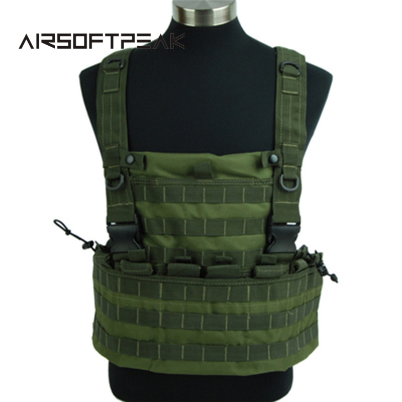 Tactical Vest Hunting Army Paintball War Game Airsoft Molle With Hydration Pouch Chest Plate Vest Body Armor Vests goggles full face masks neck mesh protective outdoors cs war game airsoft paintball field sport equipment tactical masks