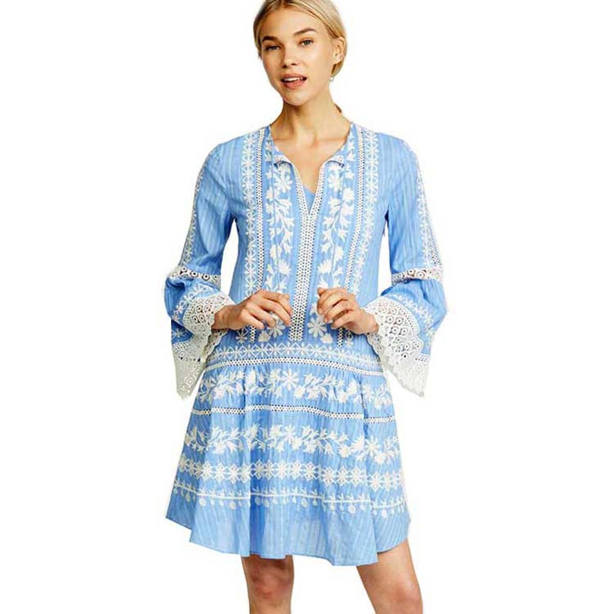 d67cfec1ba43d Jastie Etnik Çiçek Işlemeli Elbise Patchwork Dantel V Yaka Püskül Kravat  Boho Hippi Mini Elbise Uzun Kollu Sonbahar Kadın Elbiseler ~ Premium Deal  June 2019