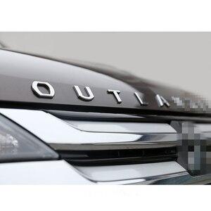 Image 4 - עבור מיצובישי הנכרי נירוסטה מתכת כרום רכב 3D מכתבי הוד סמל לוגו תג רכב מדבקת מילת מכתב אבזרים