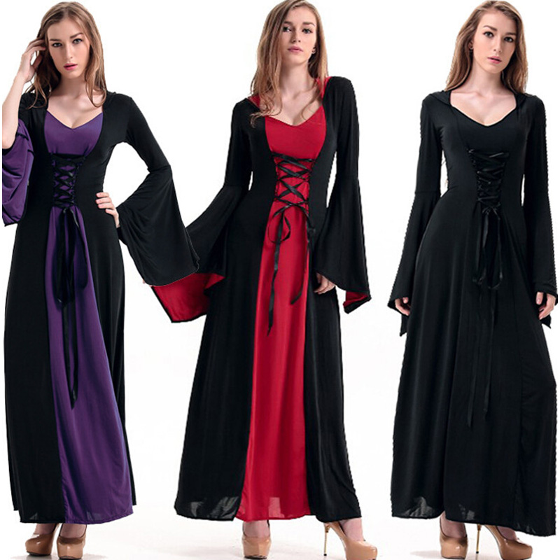 victorian halloween costumes hoodie witch costume women long dress cosplay clothes women 2017 victorian halloween costumes - Halloween Costumes Victorian