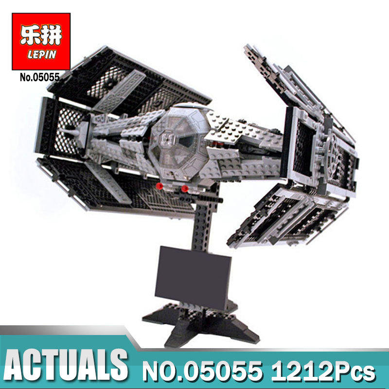 все цены на Lepin 05055 star wars the force awakens Vader's TIE Toys For Boys Model Building Kits Blocks LegoINGlys 75103 children gifts онлайн