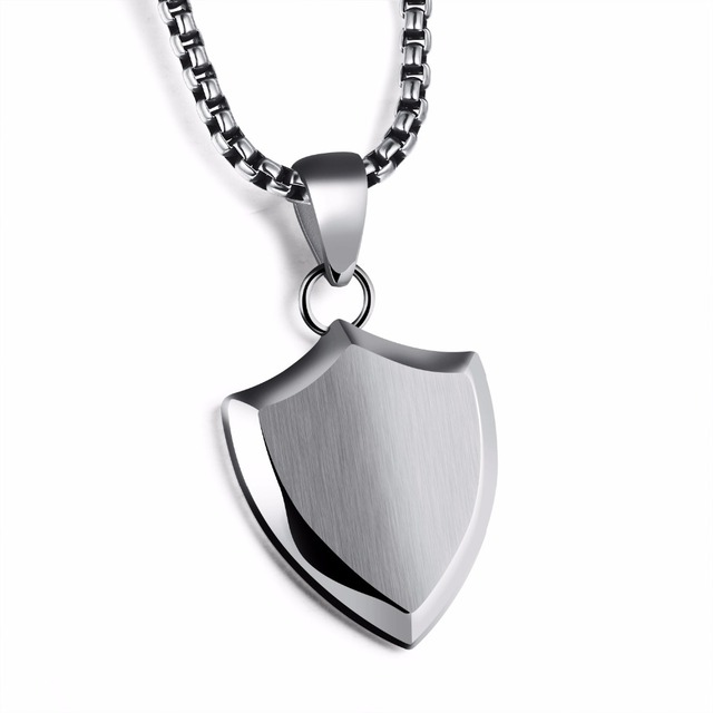 Fashion jewelry smooth stainless steel triangle shield necklace fashion jewelry smooth stainless steel triangle shield necklace mens pendant accessories wholesale can laser engraving aloadofball Gallery