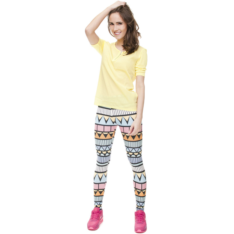 Zohra Brand New Fashion Aztec Printing legins Punk Women's Legging Stretchy Trousers Casual Slim fit Pants Leggings 17