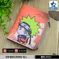 Student Short Coin Purse Anime Naruto Chibi Uzumaki Naruto Embossed Zero Change Wallet with Magnetic Button