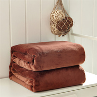Anti-static fleece blanket/throw blanket on the bed/sofa,brown upgraded flannel blankets for autumn/spring,queen king multi-size