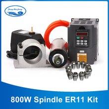 Refrigerado Por agua CNC Motor Del Huso 800 w husillo de fresado + Clamp + ER11 1.5KW VFD + 65mm Husillo 13 UNIDS Husillo Portabrocas Titular
