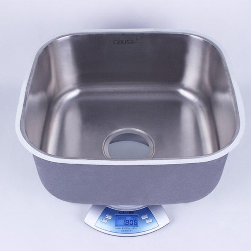 Évier de cuisine fait à la main 41*37*19 CM en acier inoxydable brossé simple bol évier de cuisine avec égouttoir sans robinets de cuisine mx4121715 - 3