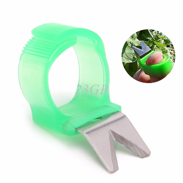 2017 NEW Garden Tomato Cucumber Grape Fruit Blade Tool Ring Melon Scissors V Model MAY03_20