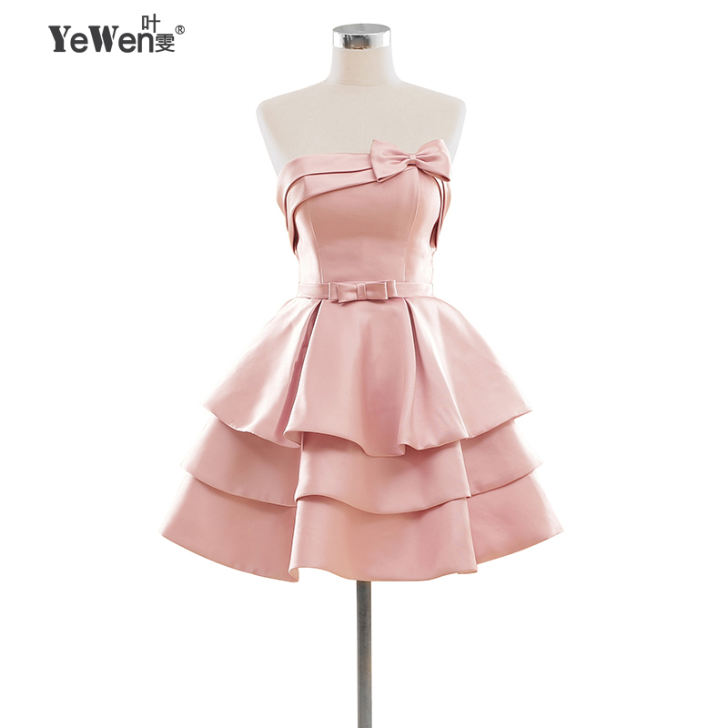 Champán rosado rojo niñas vestidos cortos de cóctel Mini vestido de ...