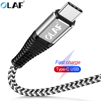 Olaf USB Cable Type-C for Xiaomi Mi 8 Oneplus 6 5T USB Type C Fast Charging Data Cable for Huawei Mate20 Pro USB C Charger Cord