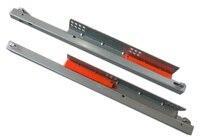 2Pairs Lot 20 500mm Rebound Press To Release Push Open Under Mount Drawer Slide Rail Runner