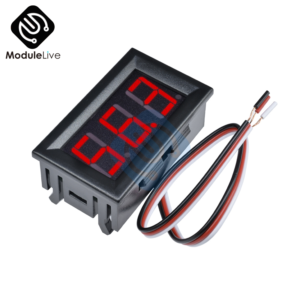 Mini LED Digital DC 0-100V Voltmeter Gauge Voltage Volt Fahrzeuge Panel Meter Red/Blue/Green