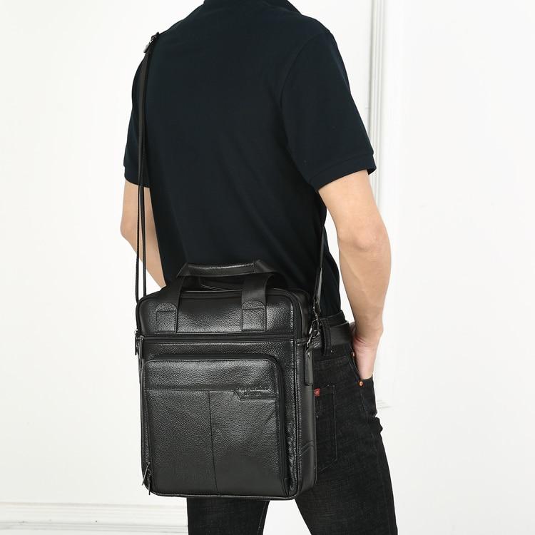 HTB1SNkDCnlYBeNjSszcq6zwhFXay MEIGARDASS Genuine Leather Business Briefcase Men Travel Shoulder Messenger Bags Male Document Handbags Laptop Computer Bag