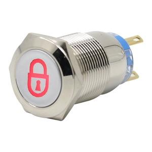 Image 5 - مفتاح ضغط زر معدني يمكن تخصيص قفل ذاتي متعدد الرسومات مفتاح إجمالي 12 فولت 24 فولت 110 فولت 220 فولت usb wifi