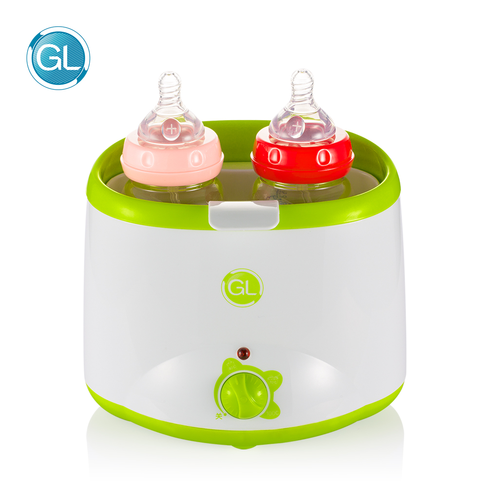GL Electric Double Baby Bottle Milk Warmer & Sterilizer Smart Milk Heating Bottle Sterilizer Thermostat Warmer Food Egg Heating constant temperature heat insulation double milk bottle sterilizer multifunction baby bottle warmer