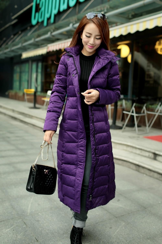 D'hiver Chaude Hj569 Black Capot Canard Veste 2016 La Manteaux Long Bas Vers Chaud Pour gray Le Blanc Femmes Plus Vestes purple Parka Slim Taille Vente Épais 90 q6g6wS